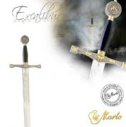 Excalibur Sword Gold and Silver